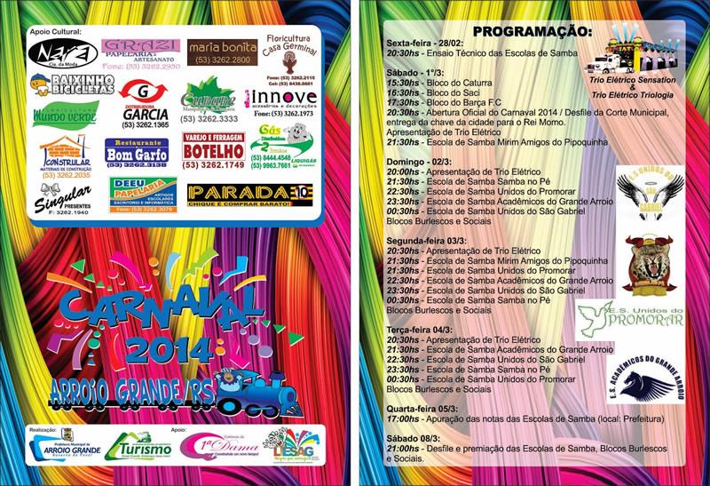 Carnaval 2014 folder