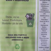 Dia 3 de outubro tem coleta de lixo eletrônico em Herval